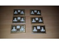 Brass Double Plug Sockets For Sale