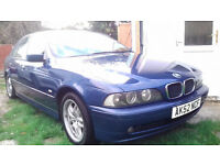 BMW 5 SERIES 520I PETROL AUTOMATIC BLUE 2002 MODEL .