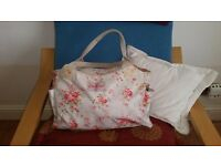 Lovely Cath Kidston oilcloth bag in eggshell blue with canvas handles
