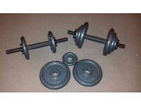 Cast Iron Weight Plates & Dumbells 0.5kg, 1.25kg & 2.5kg