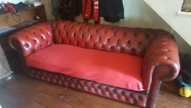 Chesterfield sofa, 3 seater in Oxblood red