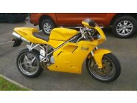 2001 DUCATI 996 DESMOQUATTRO IN AWESOME DUCATI METALLIC YELLOW (VERY COLLECTABLE)