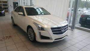2014 CADILLAC CTS SEDAN AWD, LUXURY, TOIT PANO, BLANC DIAMANT