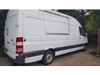 Mercedes Sprinter LWB high Roof fully loaded Mobile, Burger, Street Food, Catering Van