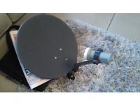 Portable Satellite dish,receiver and TV for sale