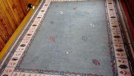 Light pattern green carpet