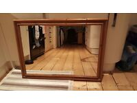 Lovely large wooden mirror