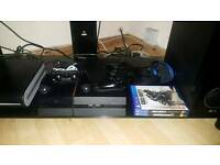 PlayStation 4 Boxed 2 controllers and 2 games n headset