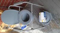 FREE COMMODE AND BOX OF LINERS