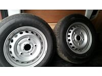 4 x New Bridgestone Duravis Ford Transit tyres on new steel rims 215/65R15 with new wheel nuts
