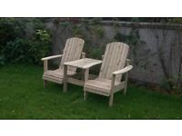 Jack and Jill seat Love Seat Twin seat Garden Summer seat furniture set Loughview Joinery