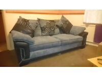 Sofa for sale, Back and grey fabric