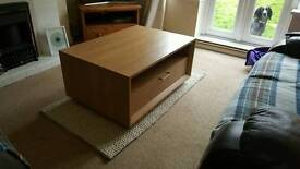 Lovely Next oak coffee table or TV stand. Cost £250 when new