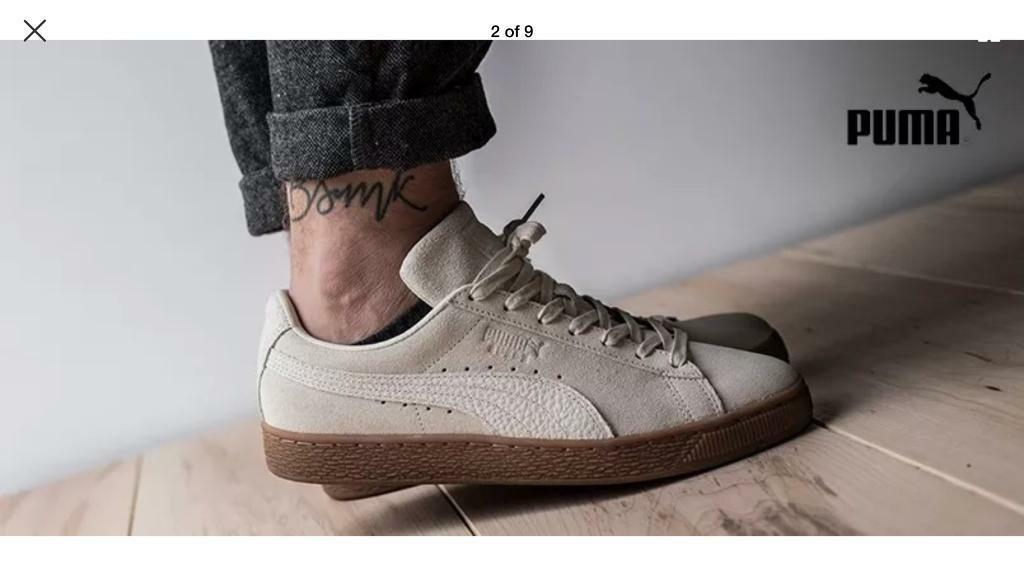 8c361198d2a2 Puma Vintage Suede Classic trainers - Birch (Off White) - £70 rrp BNWB size  UK 9.5