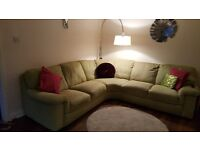 G Plan corner sofa - lime in colour - 6 years old - good condition