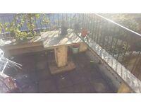 Handmade Garden Furniture - Table & 2x Benches