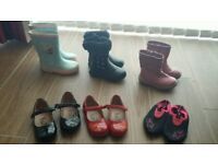 Bundle of girl's shoes and boots - size 7