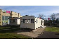 DOUBLE GLAZED STATIC CARAVAN ON HAGGERSTON CASTLE