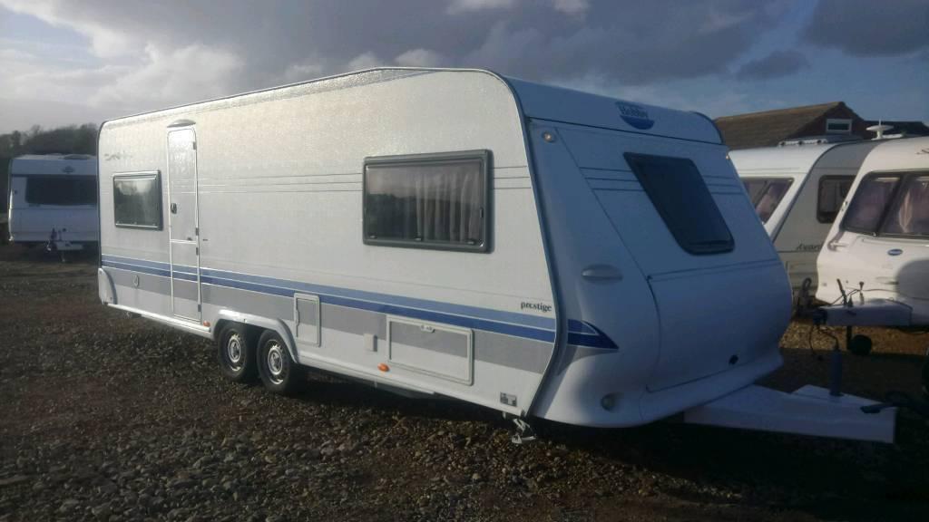 Hobby prestige 610 2006 21ft 5/6 berth twin axle caravan ...