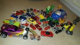 Toy car collection.