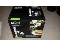 NEW BRAUN MULTI QUICK HAND BLENDER MQ325 OMELETTE