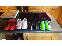 Football Boots x 4 pairs sizes 7 to 9 Adult