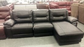 Brand New Black Sofa from DFS Right Recliner and chaise