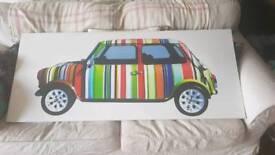 Retro mini canvas picture