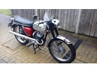 BSA Bantam Sport with old and new V5, unfinished restoration