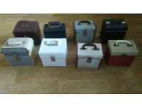 8 x vintage record cases for 7 inch singles northern soul / rock n roll