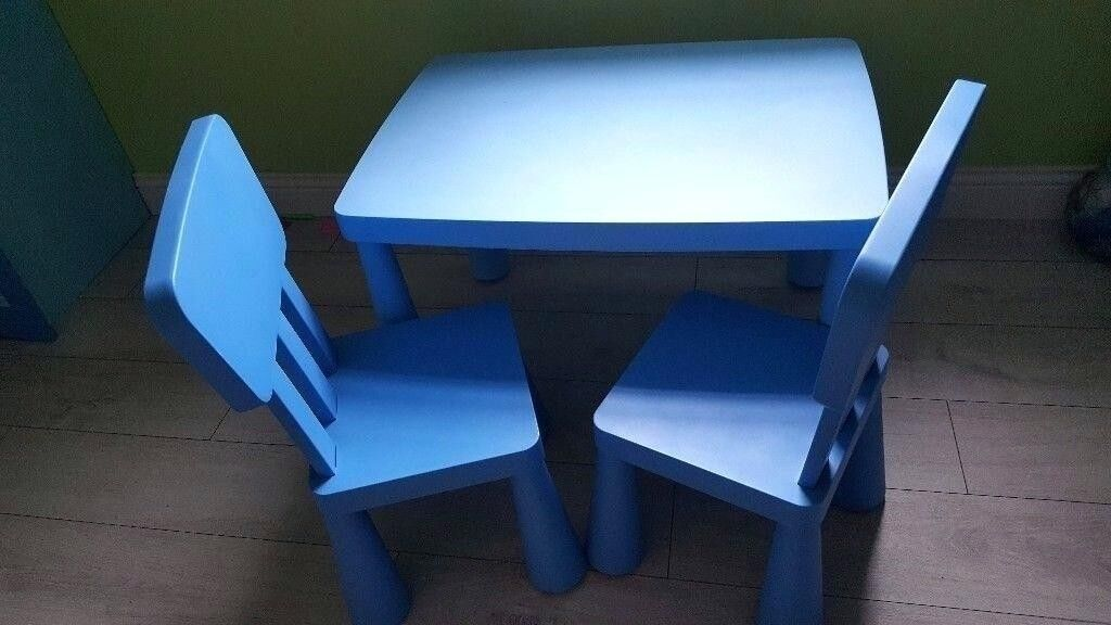 Tremendous Ikea Mammut Kids Table 2 Chairs Set In Blue Can Post In Abingdon Oxfordshire Gumtree Unemploymentrelief Wooden Chair Designs For Living Room Unemploymentrelieforg