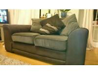 One two seater and one corner sofa - Sold as a suite