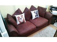 faux suade two seater sofa