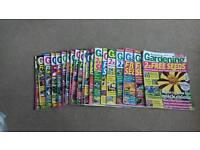 Gardening magazines x 20