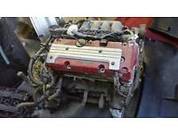 K20a2 type r engine and box loom ecu and shafts