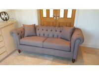 chesterfield linen fabric sofa set 3 seater and 2 seater £1000