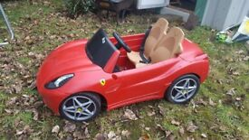 Kids electric battery car ferrari double seat