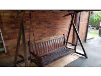 Wooden Swinging Bench