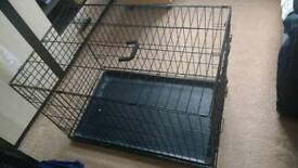 Dog travel training crate cage good condition