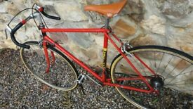Raleigh europa retro road bike 1980's original.