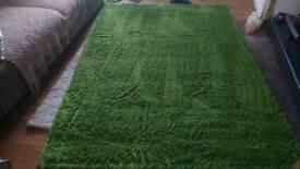 Large Green IKEA rug, Hampen 160 x 230cm