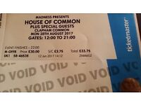Pair madness tickets aug 28th clapham common