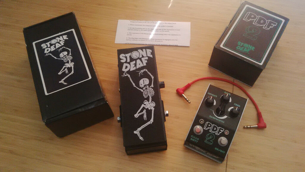 Stone Deaf PDF-2 (PDF2) parametric distortion filter & EP-1 (EP1) wah/phaser expression pedal