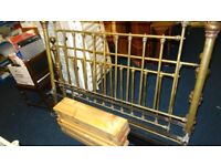 kingsize brass bed
