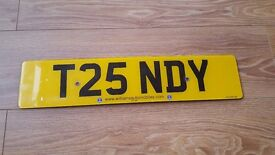 Private Registration number T25 NDY