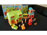 """Large selection of toys, some boxed, including """"happyland"""", """"Fisher Price, and VTECH"""