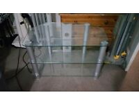 glass & alloy tv stand vgc