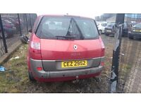 2005 RENAULT GRAND SCENIC DYNAMIQUE, BREAKING FOR PARTS ONLY, POSTAGE AVAILABLE NATIONWIDE