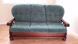 Solid Wood Country Style Sofa and Armchair FREE to uplift