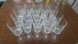 20 Crystal champagne glasses flutes vintage wedding party present